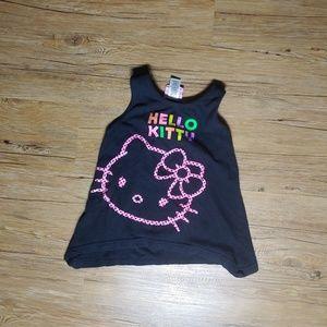 6 6x hello kitty black tank top shirt clothes